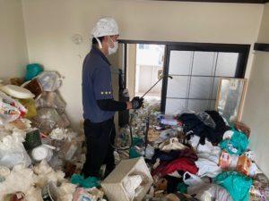大阪市のセルフネグレクト現場の消臭殺菌