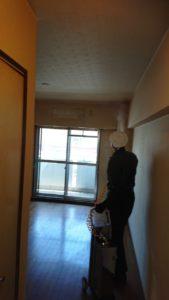 神戸市の孤独死現場の殺菌消臭作業を行いました。