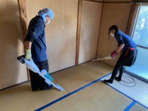 京都府向日市の遺品整理、終了後は軽清掃を行います