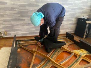 京都府宇治市の遺品整理、ピアノの解体を行いました