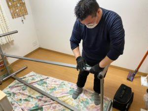 大津市マンションの生前整理、ベッドの移設を行いました。
