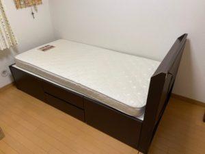 寝室ベッドの移設